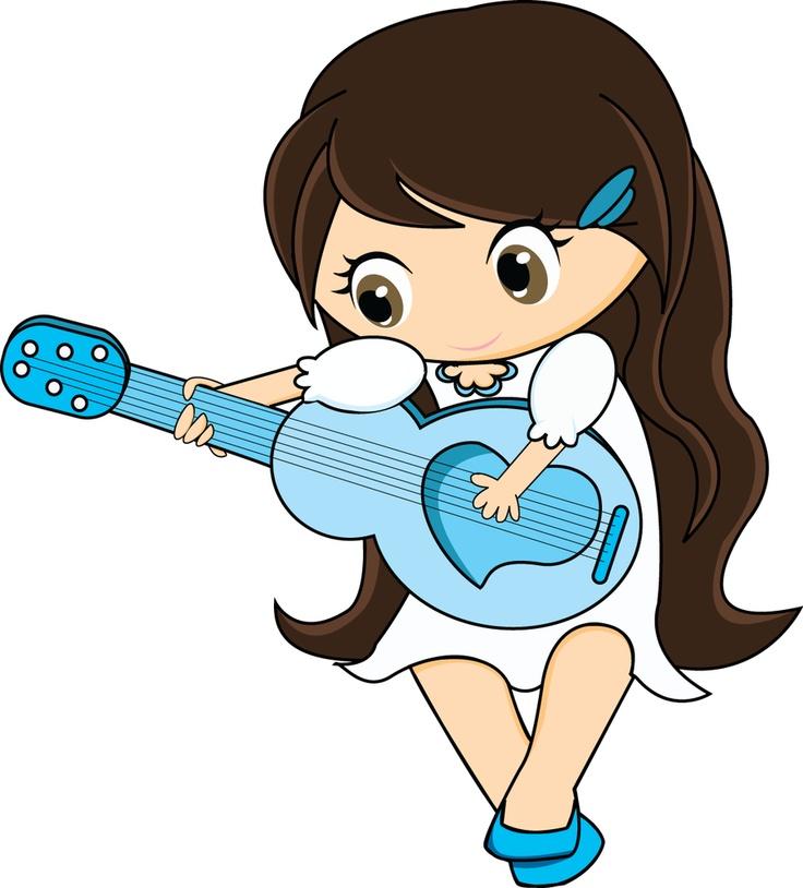 Cartoon Cute Girl Playing Electric Guitar Stock Vector ...  Cartoon Girl Guitarist