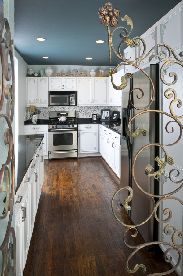 Kitchen glam Slate blue ceiling  Home Decor  Pinterest