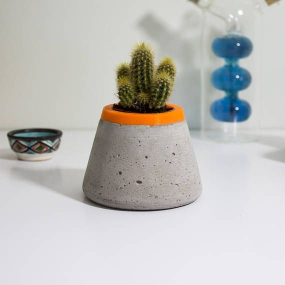 astonishing cement flower pots. A stunning concrete planter with bright lining Add some greenery to your  home or office 1713 best Concrete and Ceramics images on Pinterest Cement
