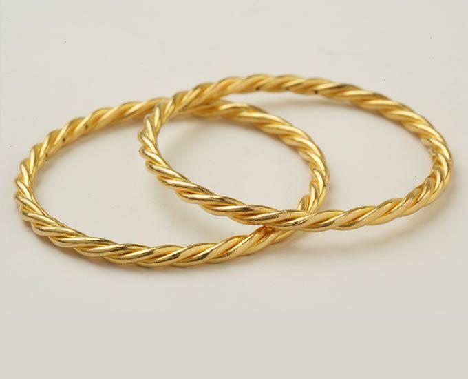 24K gold bangles