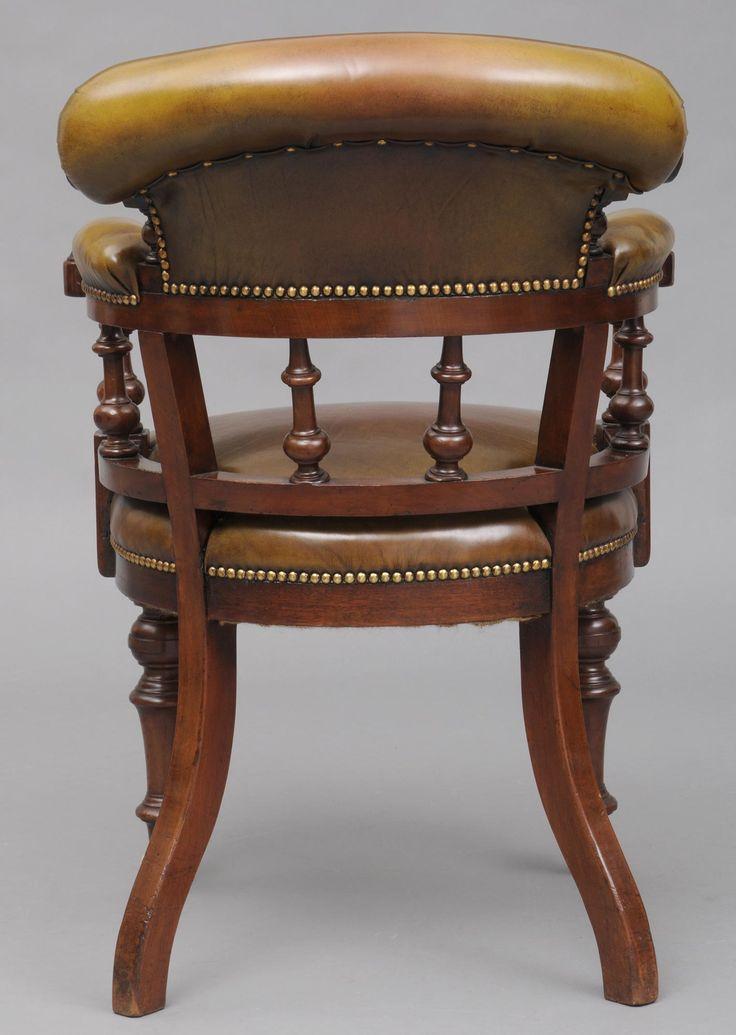 Mahogany Captains Chair C1870 Антикварные стулья Кресло Стул