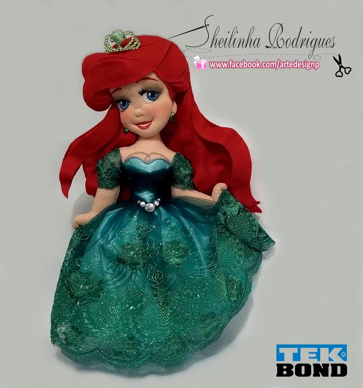 Ariel Princesa (feltro)