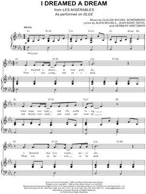 I Dreamed a Dream sheet music for violin t