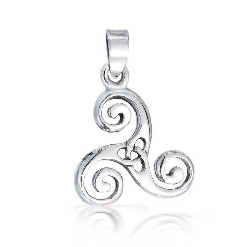 This pretty as a picture sterling silver Celtic swirl pendant is the ideal gift for your mom or for a special girl friend in your life. It is a symbol showing off that strong girl power or that amazing mother and daughter bond you may have with your mom. This classic Celtic trinity knot pendant stands out from other silver triquetra pendants because this Celtic swirl piece of jewelry represents the mother, maiden, and crone female forces in the Celtic culture. Available on Amazon.com
