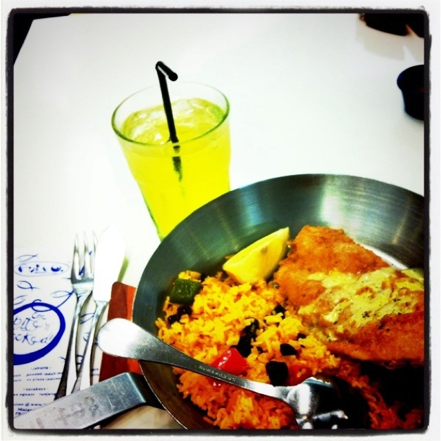 Fish fillet and cola tonic at Fish n Co