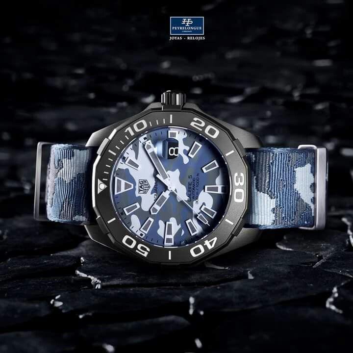#TiempoPeyrelongue / #Baselworld2017  El Aquaracer Camouflage tiene las cualidades de un reloj todoterreno. En primer lugar, porque pertenece a la colección de los Aquaracer, la línea de relojes deportivos de TAG Heuer. / #watchoftheday / #watchmania / #reloj / #dailywatch / #watchfam / #watchnerd / #horology / #watchgeek / #watchaddict / #luxury / #watchcollector / #timepiece