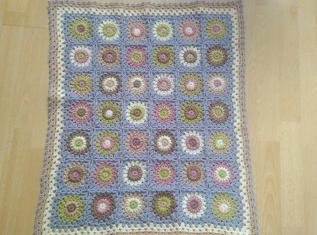 "Crochet ""Delicious"" baby blanket £22.00"