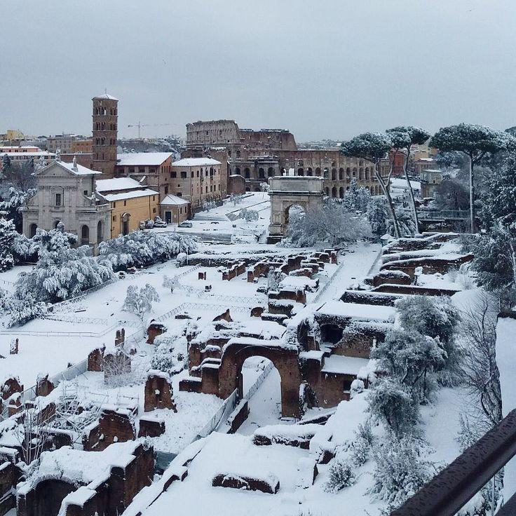 Pin di Louisa su Italia Lazio Roma, Italia e Neve