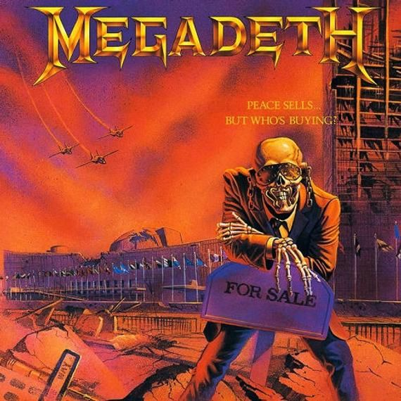 Megadeth Peace Sells But Who S Buying Thrash Metal Crossstitch Subversive Dmc Pattern Album Covers Metal Albums Megadeth