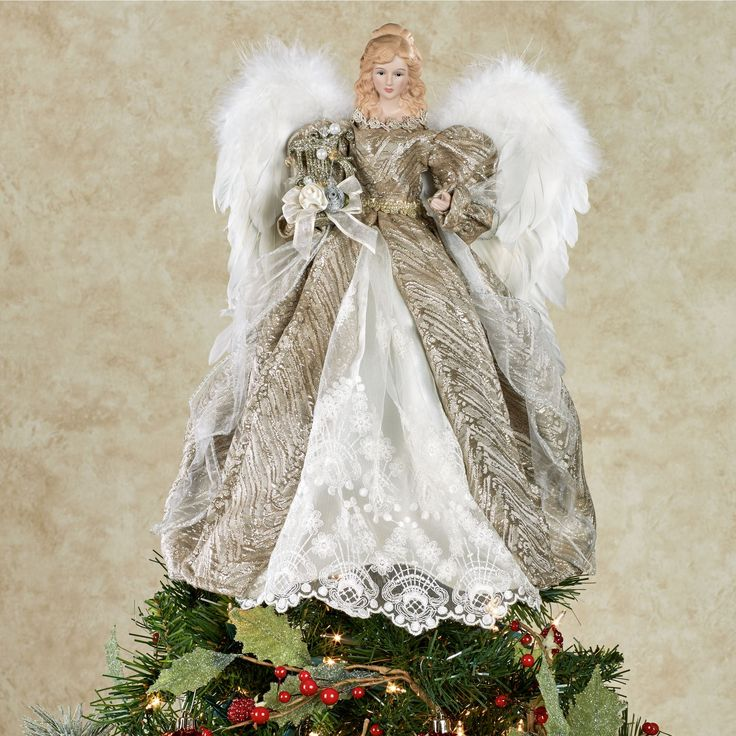 117 best christmas angel toppers images on pinterest for Angel christmas tree decoration