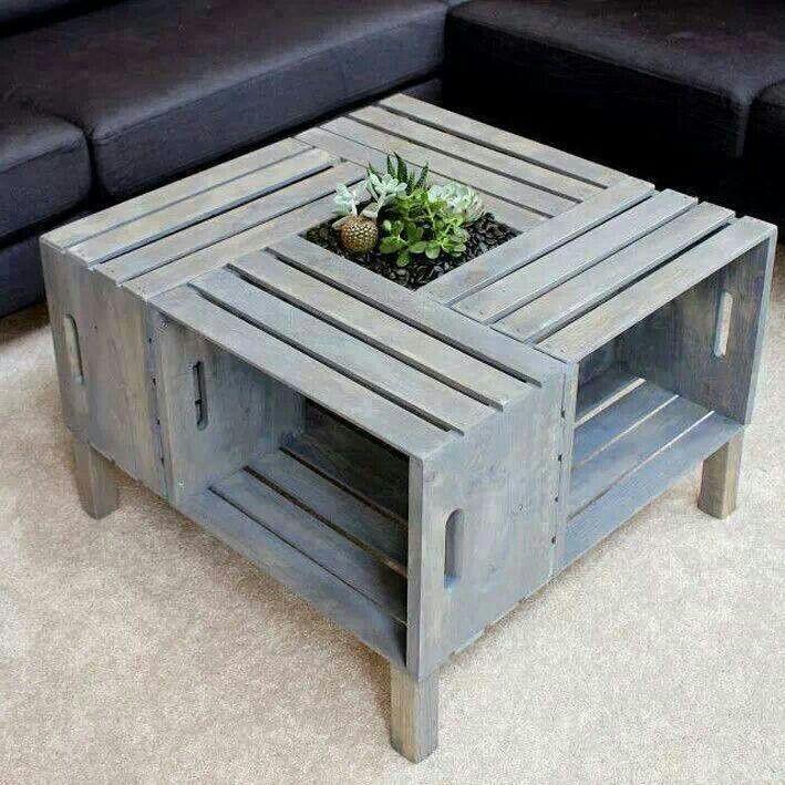 Caixote = mesa de centro