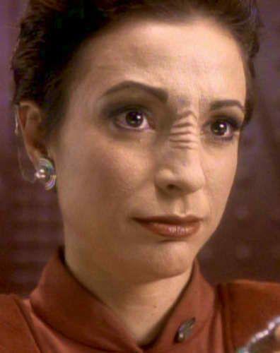 Nana Visitor as Kira (Season 3).  Or maybe Bajoran ...