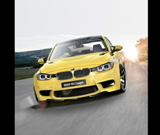 2013 BMW M3 not so mellow yellow