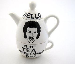 I NEED THIS IN MY LIFE.  Like yesterday.  Hello Lionel Richie Ritchie Is it Tea Teapot by Lenny Mud - eclectic - coffee makers and tea kettles - by Etsy