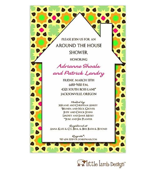 Around The Clock Wedding Shower Invitations with perfect invitations layout
