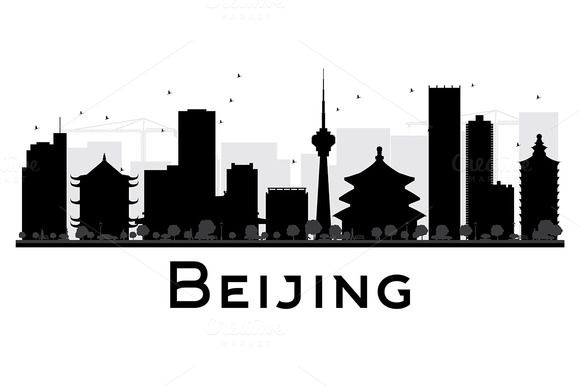 #Beijing #City #Skyline #Silhouette by Igor Sorokin on @creativemarket