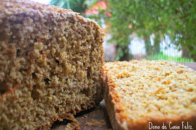 Dona de Casa Feliz: Pão Integral Nutritivo de Cenoura e Iogurte - Liquidificador