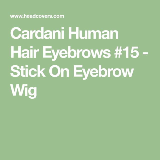 how to make stick on eyebrows