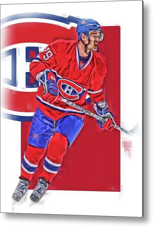 Andrei Markov Metal Print featuring the mixed media Andrei Markov Montreal Canadiens Oil Art by Joe Hamilton