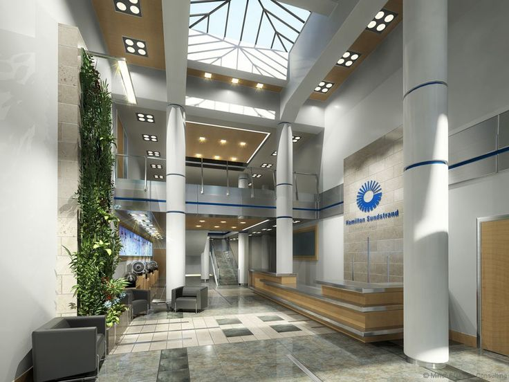 Office design corporate interior branding by interior hamilton sundstrand lobby interior for Interior designer san diego ca