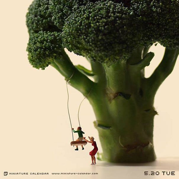Japanese Artist Creates One Playful Diorama Each Day For 4 Years