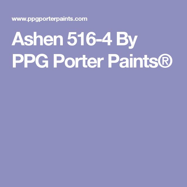 Ashen 516-4 By PPG Porter Paints®