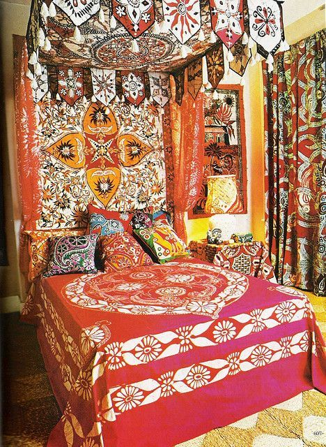 Batik Explosion in home decor - Bohemian and ethnic decorating