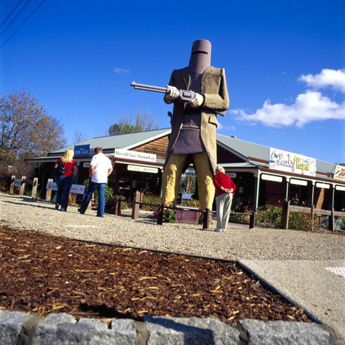 Australia loves its big statues—think Queensland's big apple, NSW's Big Banana, or an oversized model of a DNA double helix in Perth—but if you can only see one on your road trip, make it the Big Ned Kelly at Glenrowan. The iconic bushranger is the stuff of folklore (he's akin to the Wild West outlaw Billy the Kid), and the town is the place where Kelly had his legendary last stand off against the police.