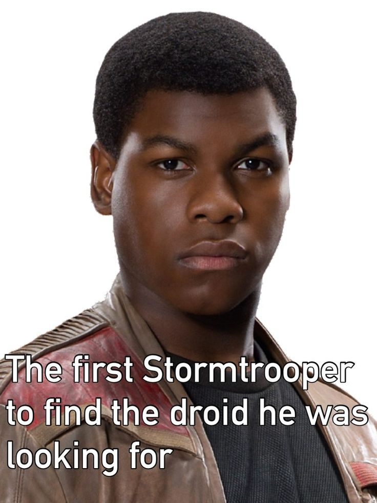 Star Wars humor - The first Stormtrooper to find the droid he was looking for