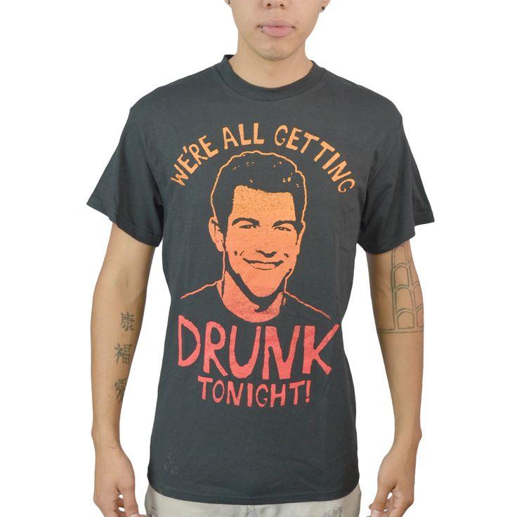 New Girl Schmidt Drunk Tonight Black Licensed T-shirt