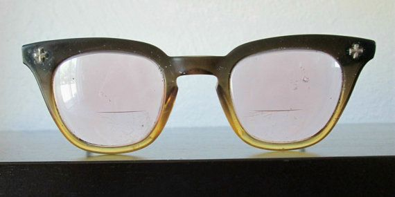 7d9911b6724 Bausch and Lomb 5 3 4 Distressed Mid Century Vintage 1950-60s Atomic Safety  Glasses