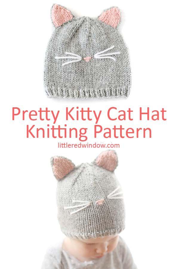 e276379b2 Pretty Kitty Cat Hat Knitting Pattern