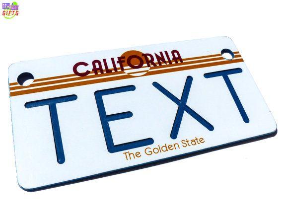 Personalized Bike Plate  California License Plate Replica