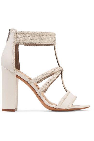Sam Edelman - Yordana Woven Leather Sandals - White - US10.5