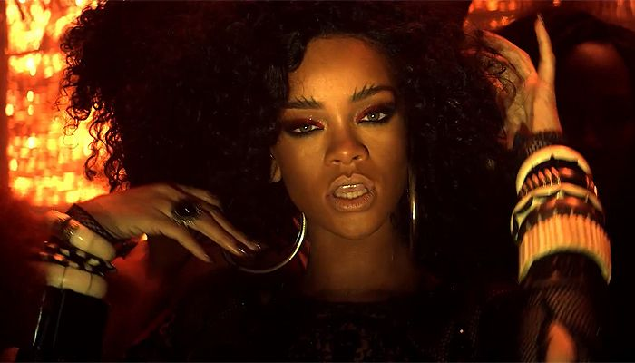 "Rihanna ""Where Have You Been"" video. This make up is siiiick, beautiful skin..."