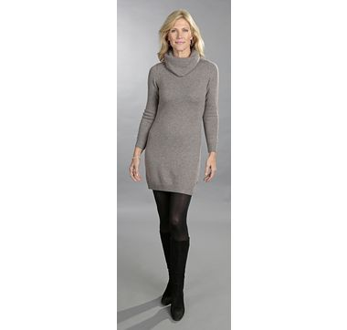 Andrè Maurice 100% Cashmere Tunic/Dress with Detachable Cowl