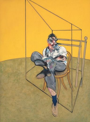 """Three Studies of Lucian Freud"" by Francis Bacon.(middle painting) the three sold at auction Nov. 2013 for an incredible $142 million."