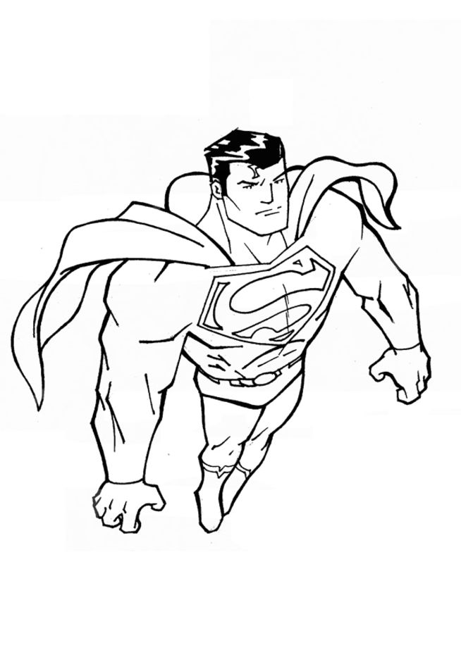 Beautiful Superhero Logos Coloring Pages