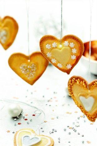 Cœurs de Noël au citron Livre : Biscuits de Fête Ed. Larousse Cuisine