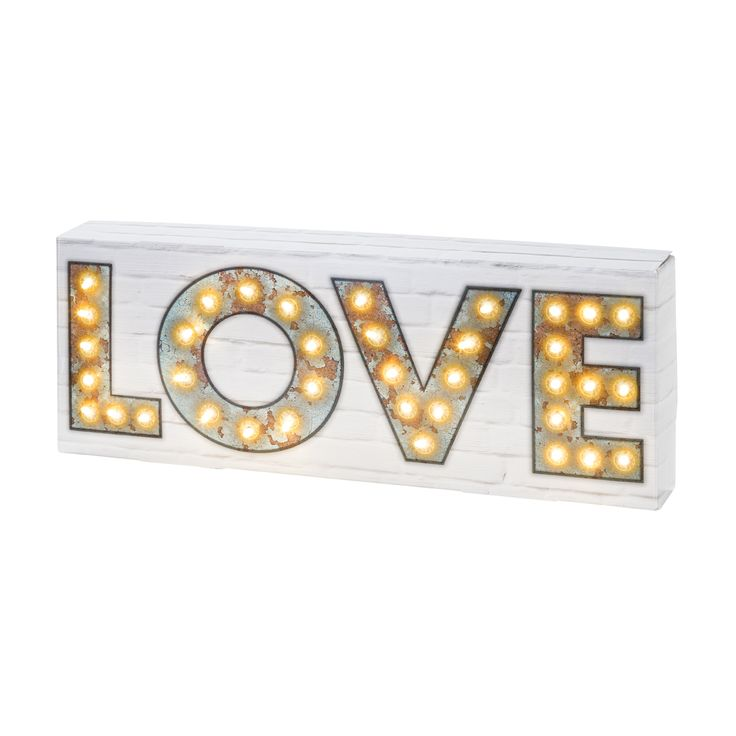 Turn on your love light, let it shine on me!  Party Illuminations Love Signs are now in stock at butterslip.com.