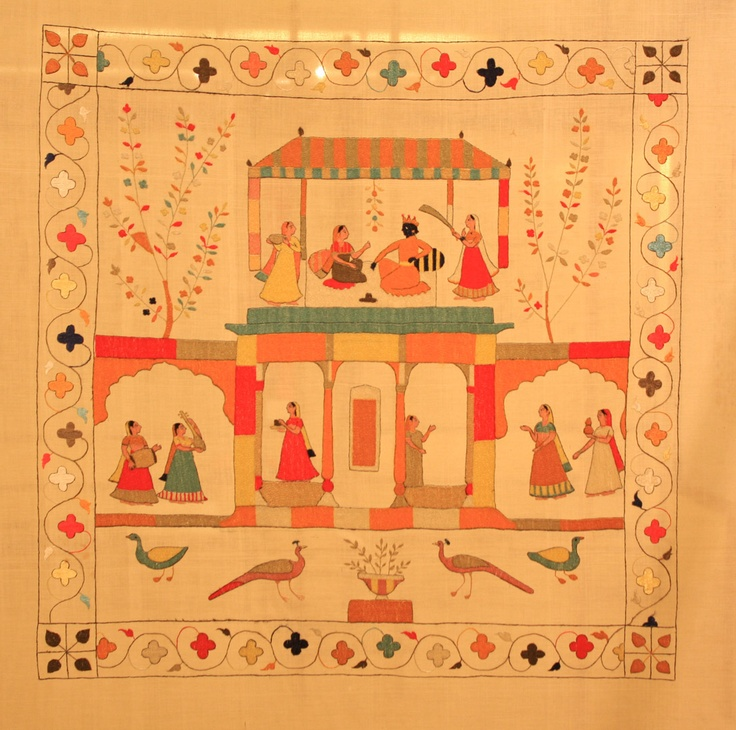 The art of double sided embroidery on rumals in Chamba, Himachal Pradesh. The exhibition titled Raas was the culmination of their efforts.  From Pure Ghee Designs: event