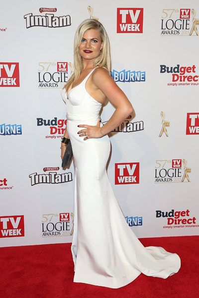 ​Bonnie Sveen ​at the 2015 Logie Awards.