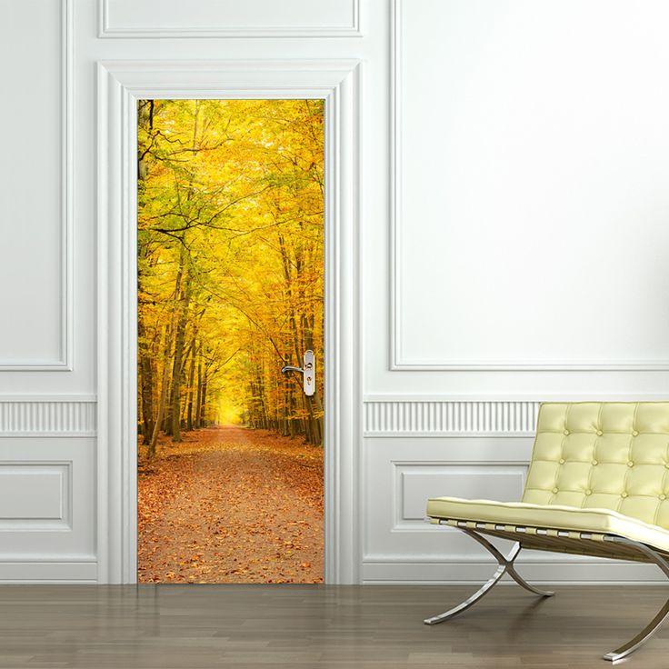 Ucuz Sonbahar Yaprak Döken Peyzaj Kapı Çıkartmalar Yatak Odası kapı yaratıcı kendinden yapışkanlı dekorasyon Su Geçirmez kapı çıkartmalar, Satın Kalite duvar çıkartmaları doğrudan Çin Tedarikçilerden: Sonbahar Yaprak Döken Peyzaj Kapı Çıkartmalar Yatak Odası kapı yaratıcı kendinden yapışkanlı dekorasyon Su Geçirmez kapı çıkartmalar