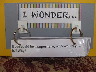 45 I wonder questions - writing center or morning meeting question of the day... great way to get to know kids!