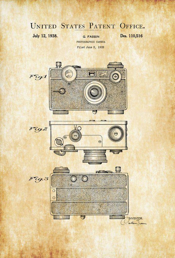 Argus C Fotokamera Patent – Patent Print, Wanddekoration, Fotografie Kunst, Kamerakunst, Vintage