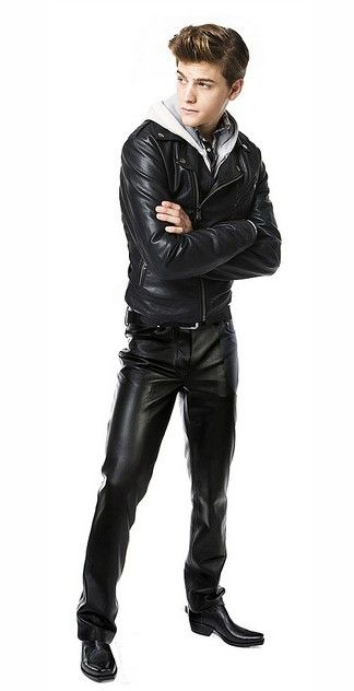 black leather pants and jacket | Things to Wear | Leather ...