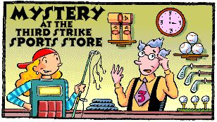 FREE from Scholastic - Mystery at the Third Strike Sports Store  - one of Math Maven's Mysteries - I love these math mysteries for kids!