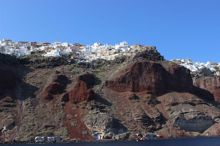 Fabulous Oia (Οία) on multicoloured rocks, Santorini https://arturania.com/santorini