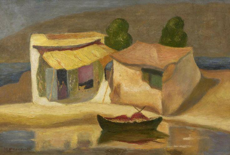 Οικονόμου Μιχαήλ – Michail Oikonomou [1888-1933] Houses by the sea