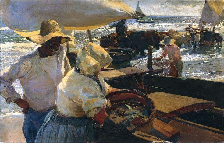 morning-sun-1901 Joaquín Sorolla y Bastida (27 February 1863 – 10 August 1923) was a Valencian Spanish painter.